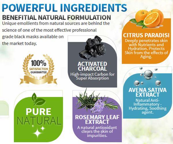 black mask ingredients