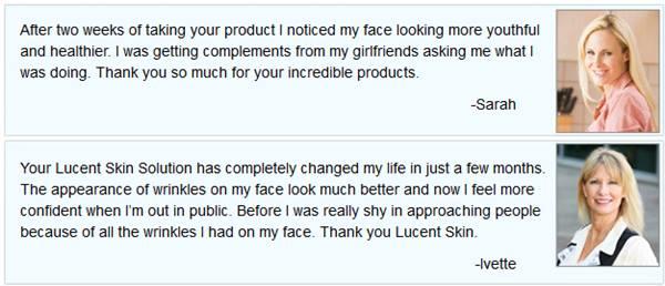 lucent skin anti-aging cream testimonials