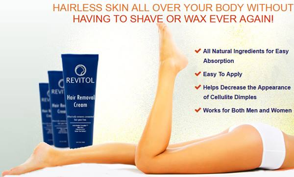 Revitol Hair Removal Cream Works For Men Women